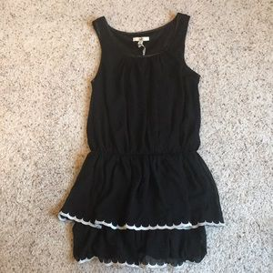 Ya Los Angeles Black Dress with White Trim